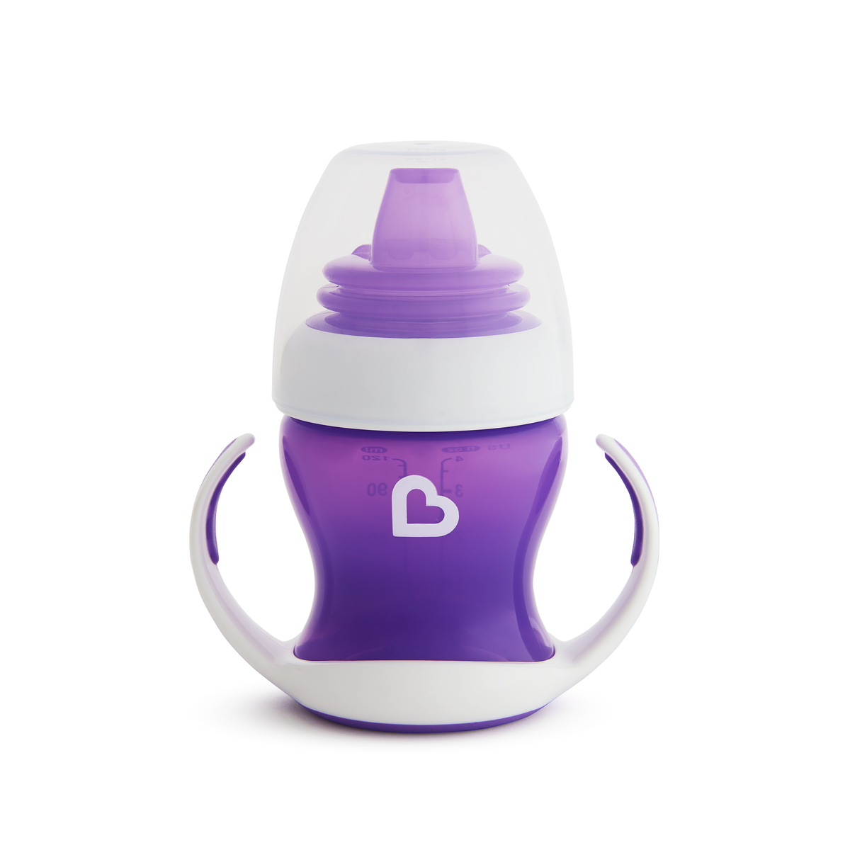 Εκπαιδευτικό μοβ ποτήρι Gentle first cup Munchkin