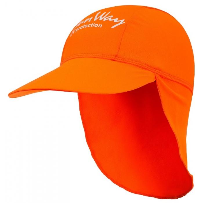 Αντηλιακό καπέλο kid UV πορτοκαλί