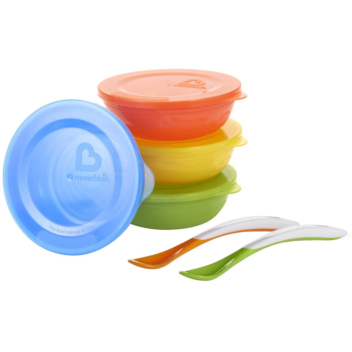 Μπωλ με καπάκια & κουτάλια Love-a-bowl Munchkin