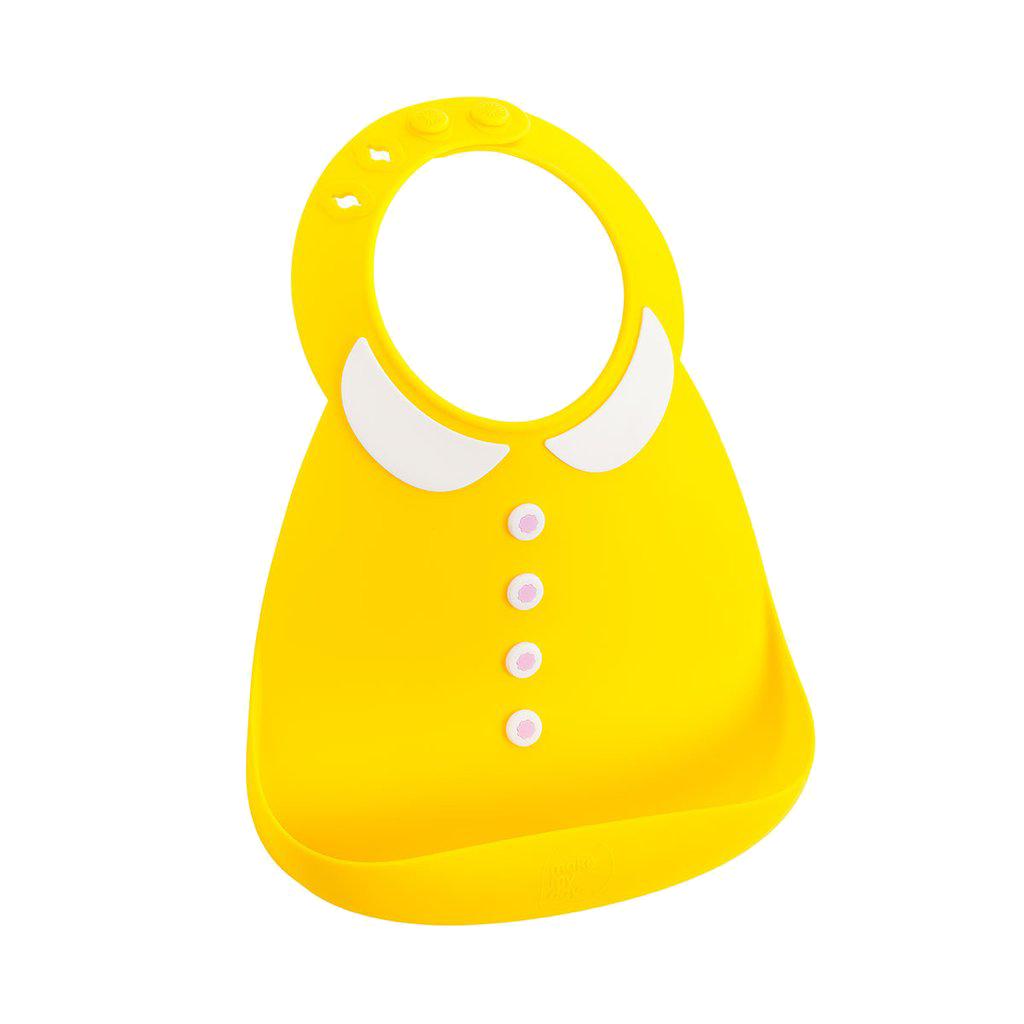 Baby bib σαλιάρα σιλικόνης PeterPan κίτρινη