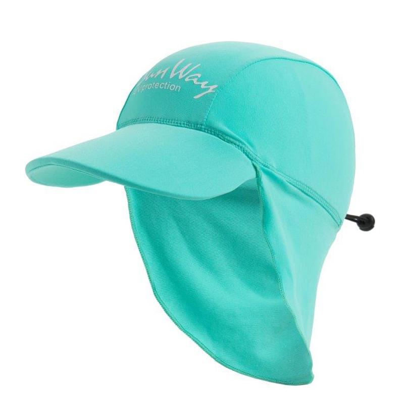 Αντηλιακό καπέλο junior UV blue menta