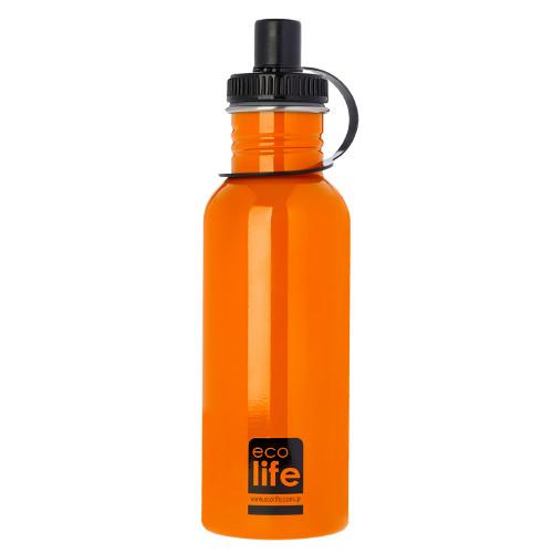 Mεταλλικό ανοξείδωτο μπουκάλι Orange EcoLife