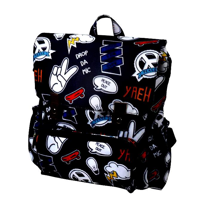 Παιδικό backpack MINENE  <br>Comic Stripe