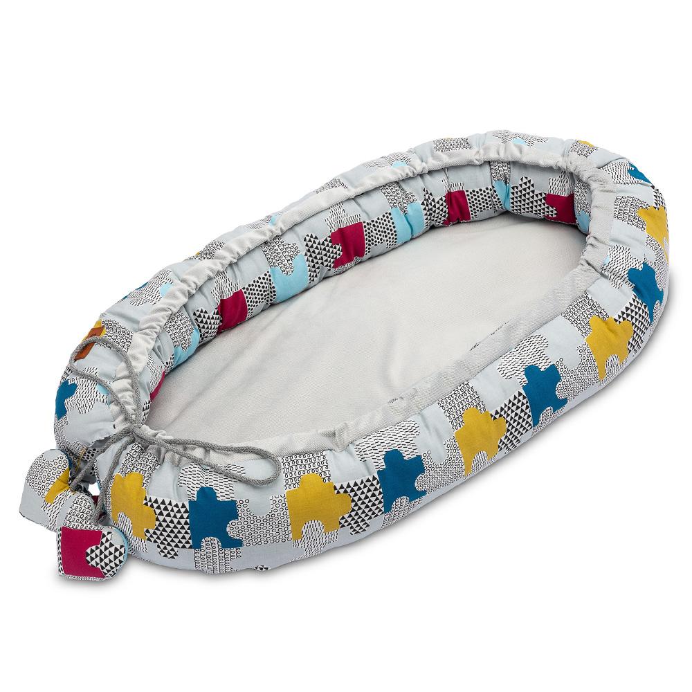 Φωλιά Baby nest Sensillo <br> Velvet Puzzle 80 * 45cm