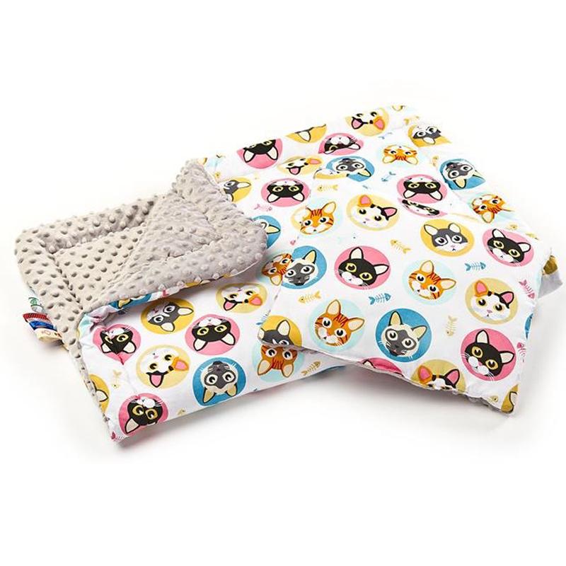 Σετ ύπνου Minky πάπλωμα/μαξιλάρι γατούλες - Sensillo