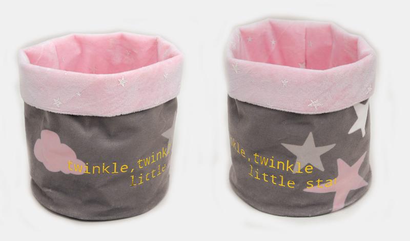 Πουγκί αστέρι ροζ twinkle little star <br/>15*20cm