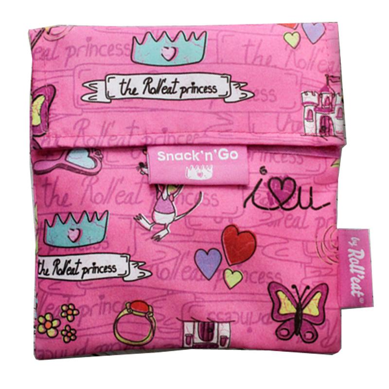 Περιτύλιγμα σάντουιτς Snack n' Go Princess-Ροζ