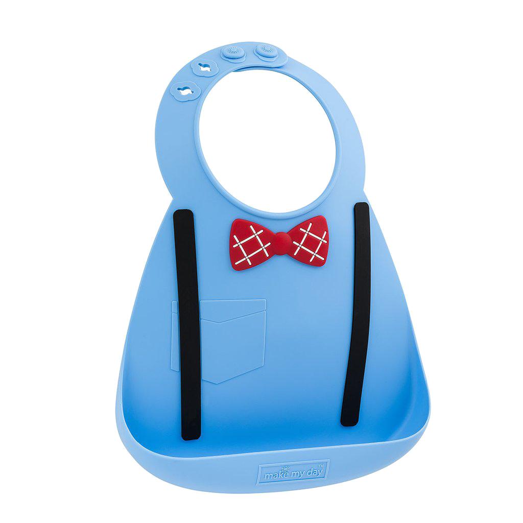 Baby bib σαλιάρα σιλικόνης Scholar blue