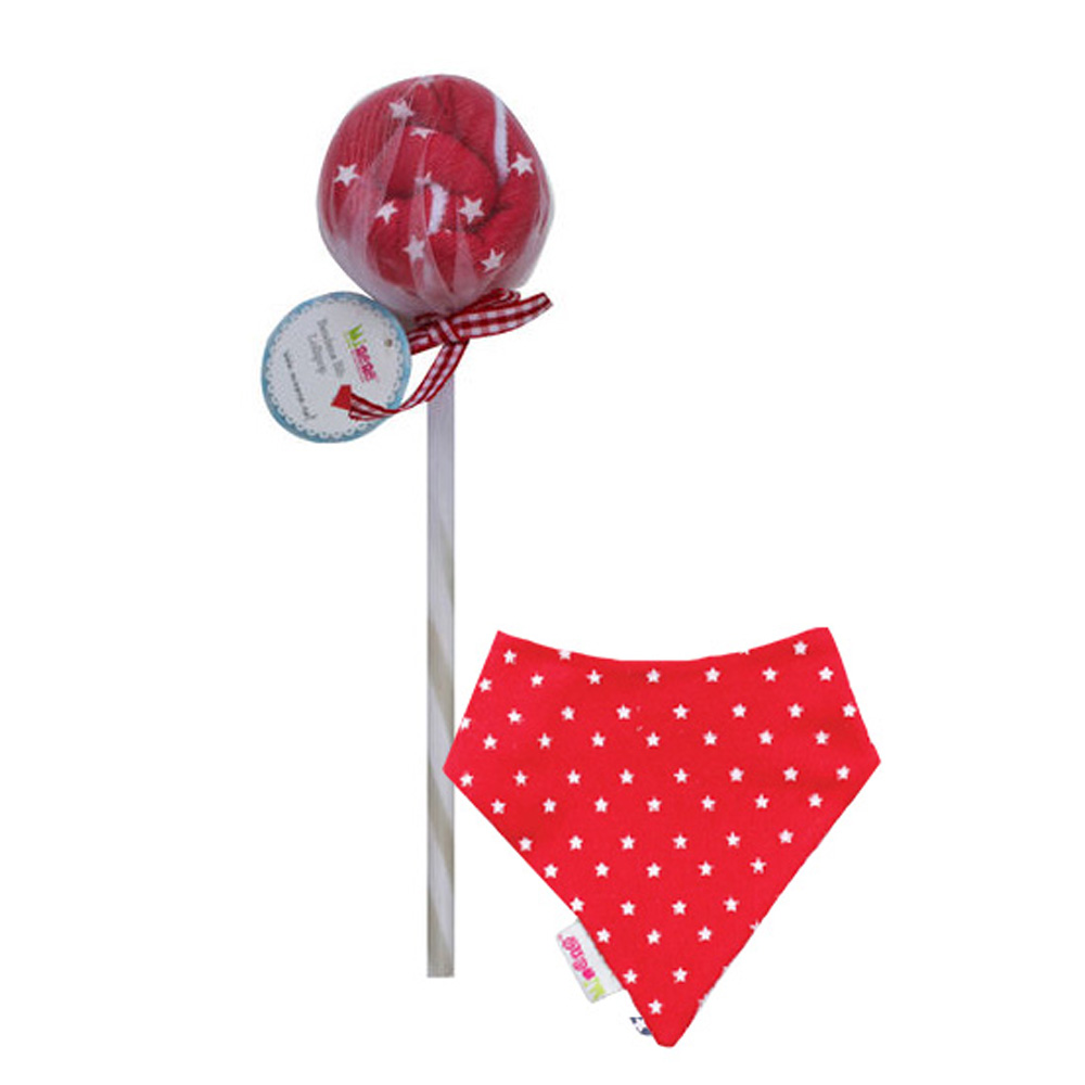 Minene-Lollipops Σαλιάρα-μπαντάνα Κόκκινη Αστέρια