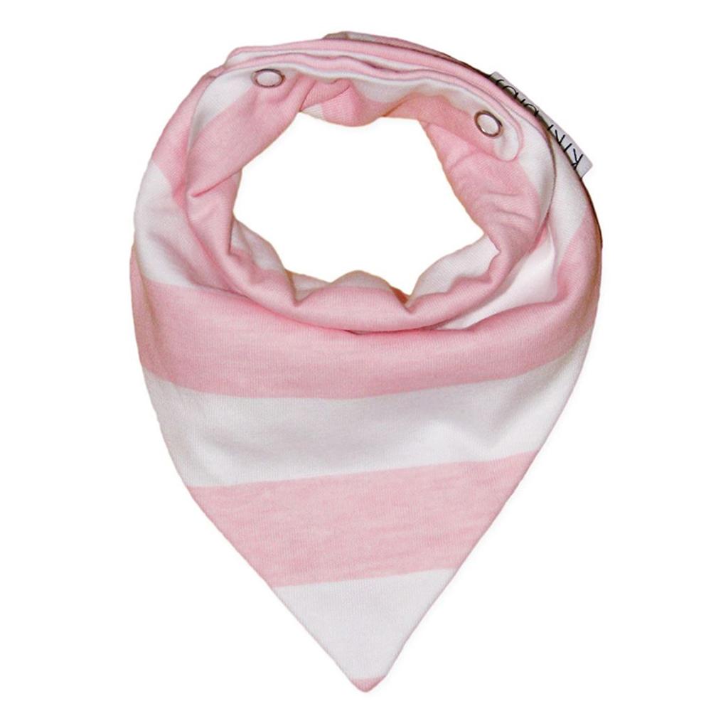 Kiki Bibs Σαλιάρα-μπαντάνα Pink Stripes