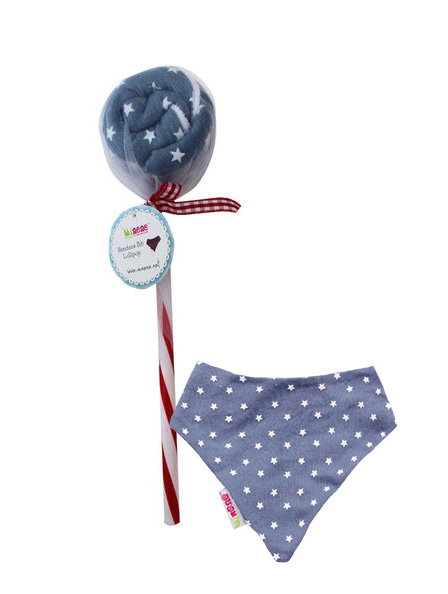 Minene-Lollipops Σαλιάρα-μπαντάνα Μπλε Αστέρια