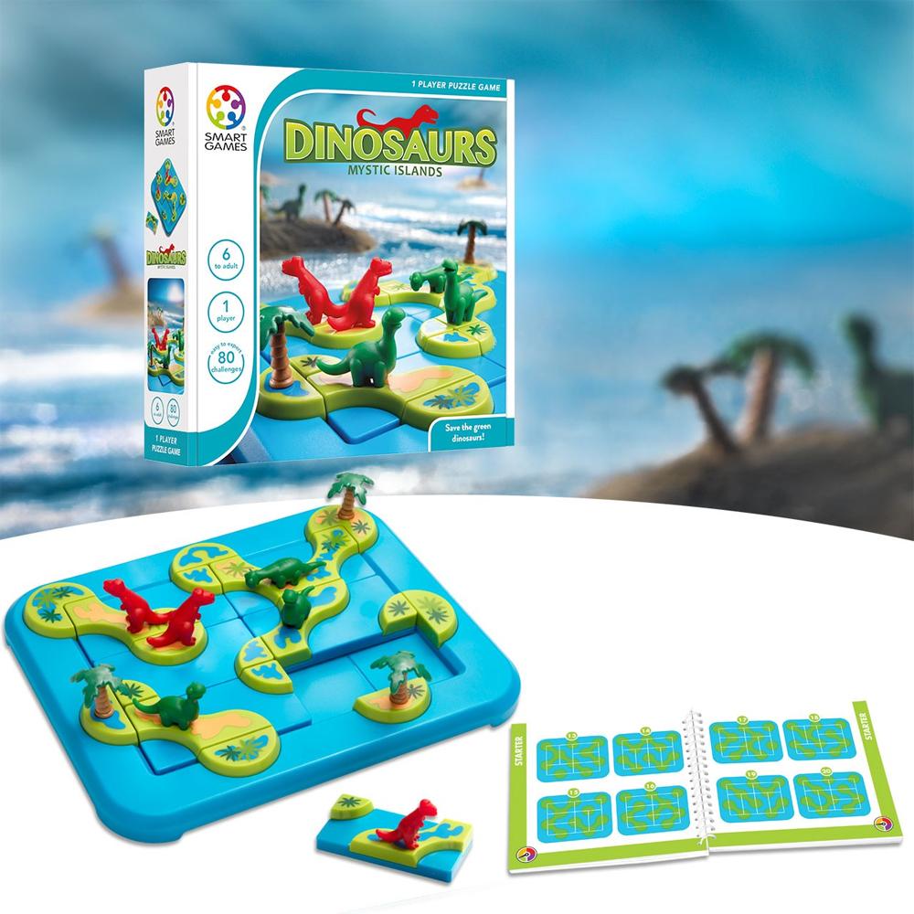 Smartgames επιτραπέζιο 'Το νησί των δεινοσαύρων' (80 challenges)