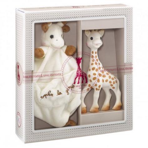 Σετ δώρου με πανάκι παρηγοριάς - Sophie la girafe