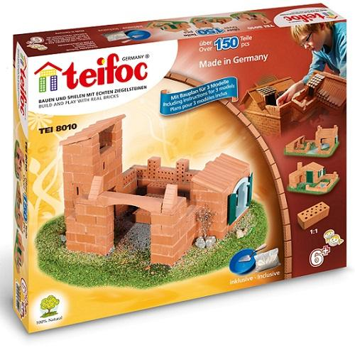 Teifoc-Χτίζοντας σπίτι με πραγματικά τούβλα 150 τεμαχίων