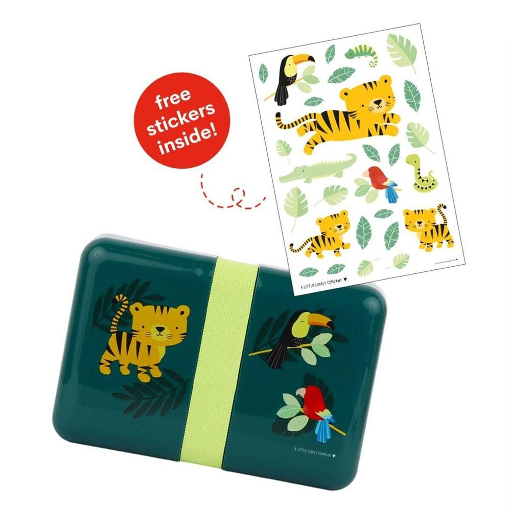A little lovely company Δοχείο φαγητού Lunch box tiger 18*12*6