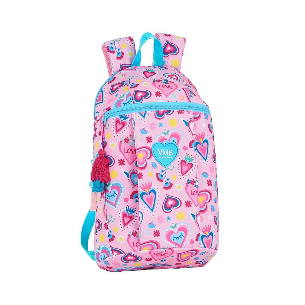 Safta: Τσάντα πλάτης μικρή 22x10x39εκ. Hearts